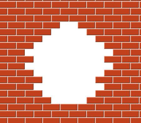 Wall break Vector