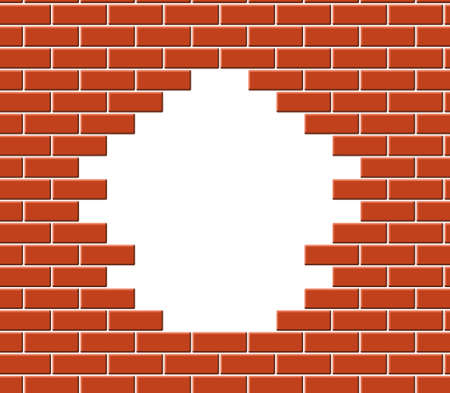 hole in wall: Wall break