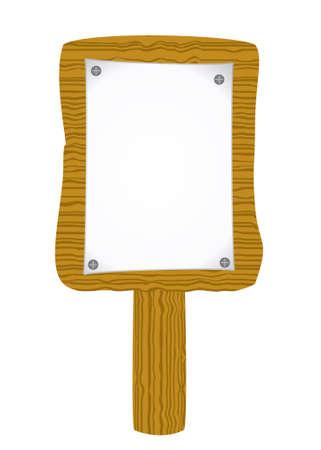 adjuntar: Documento de adjuntar a la cartelera de madera vieja