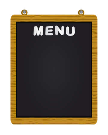 Menu on blackboard Illustration