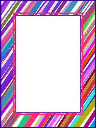Abstract colorful lines frame Stock Vector - 5845438