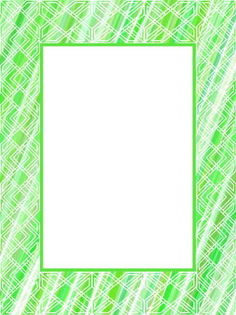 Abstract green lines frame Stock Vector - 5845450