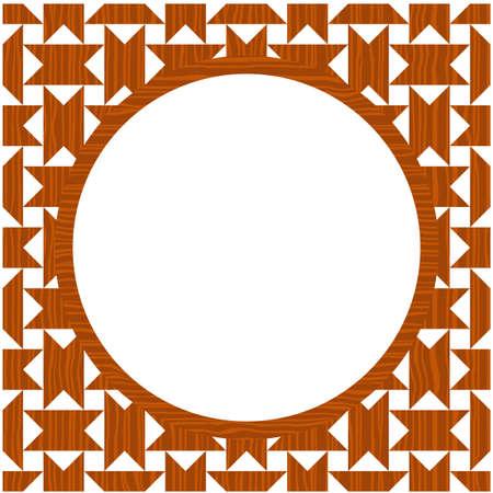 bordering: Marco de madera de c�rculo Vectores