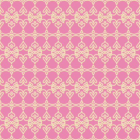 Design pink ornament background Vector