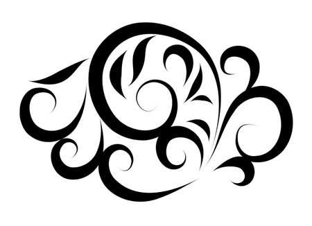 Organic tattoo Vector