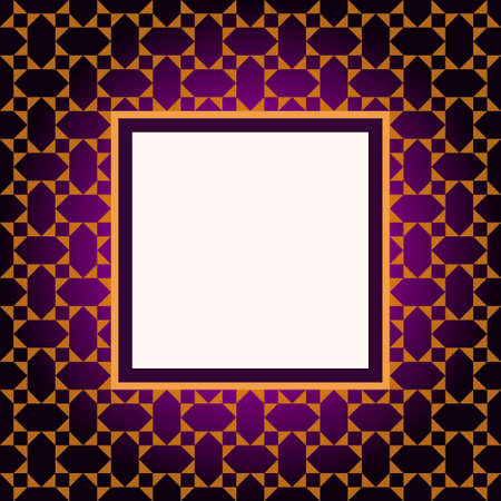 Design violet pattern frame Vector