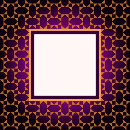 Design violet pattern frame Vector