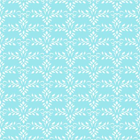 Seamless blue indian ornament wallpaper Vector