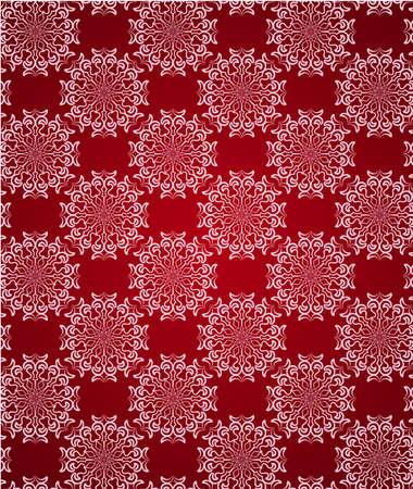 red swirl: Carta da parati ornamento pizzo rosso senza saldatura