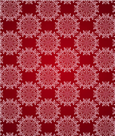 Seamless red lace ornament wallpaper