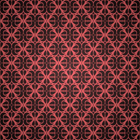 Seamless red ornament wallpaper Stock Vector - 6041969