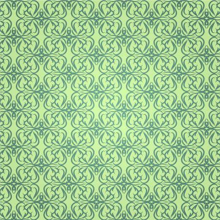 Design green ornament wallpaper Stock Vector - 6041979