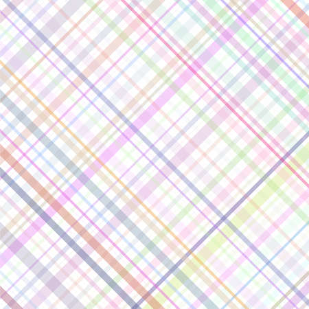 Pastel multicolored stripes plaid Vector