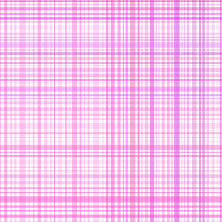 Pastel pink stripes plaid Vector