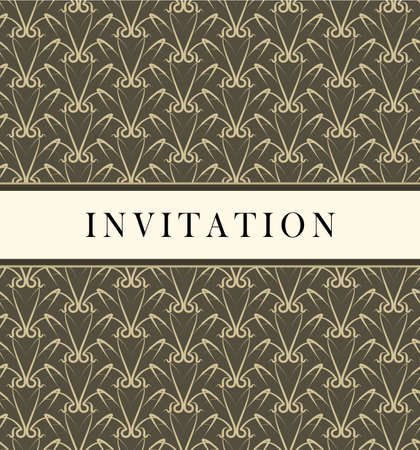 Invitation design card