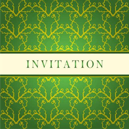 wedding reception decoration:   Invitation green card