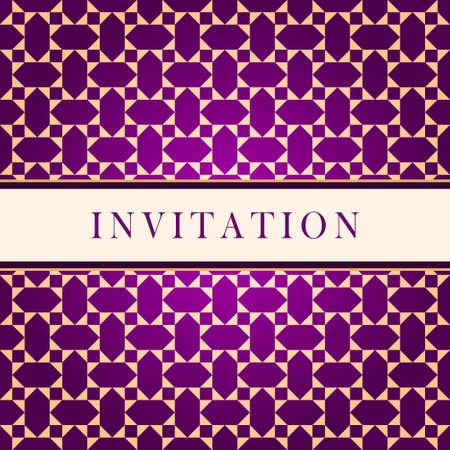 wedding reception decoration: Invitation ornate red card