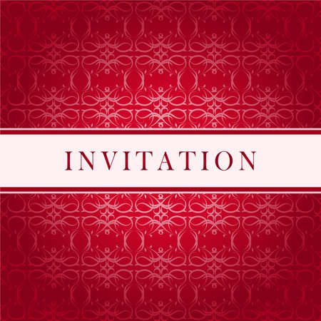 and invites:   Invitation red card Illustration