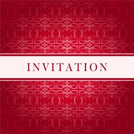 Invitation red card Stock Vector - 6386795