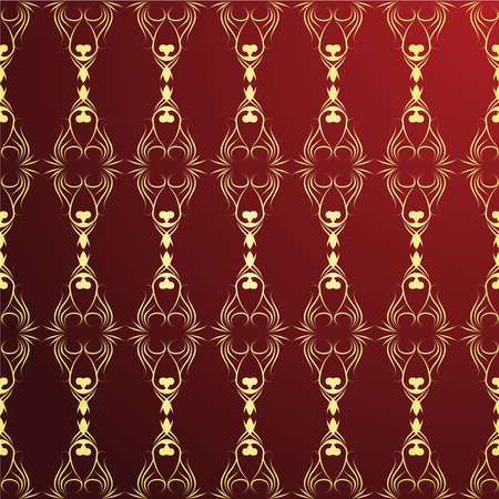Golden and red ornament background Vector