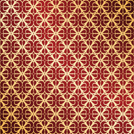 Golden and red ornate background Vector