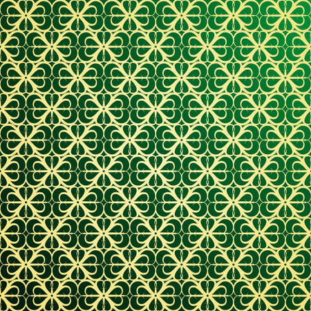 Gold and green ornament background Stock Vector - 8111997