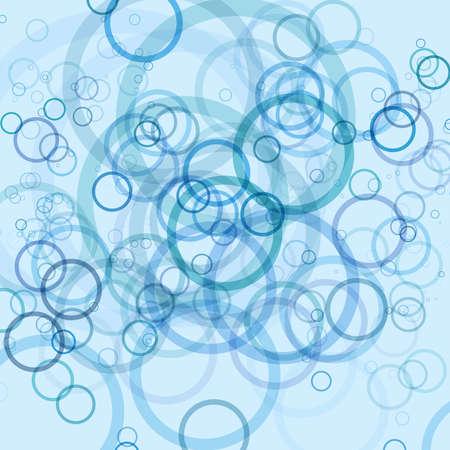 Fun blue circles retro background Vector