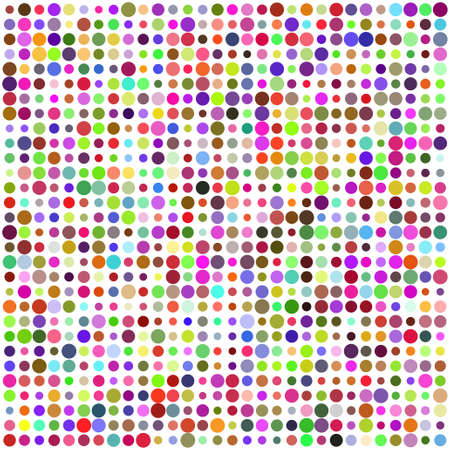 Retro circle multicolored abstract pattern Illustration