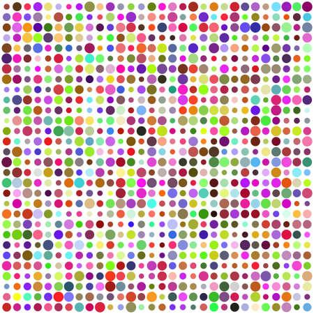 nostalgic: Retro circle multicolored abstract pattern Illustration