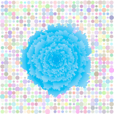 Floral retro pop art background