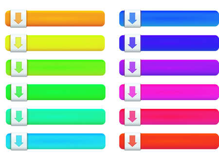 Web buttons multicolored icons on white background Vector