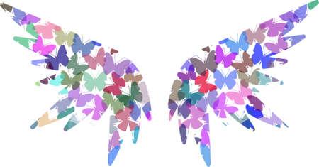 amazing wallpaper:   Ali di farfalla Angel Vettoriali