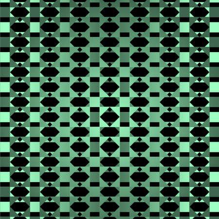 Geometrical green ornamental background Vector
