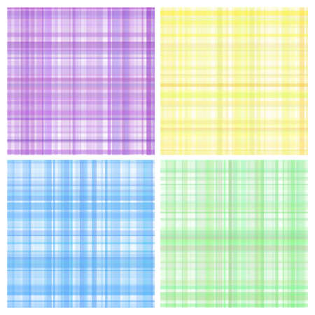quilted fabric: Set of pastel vector stripes plaid