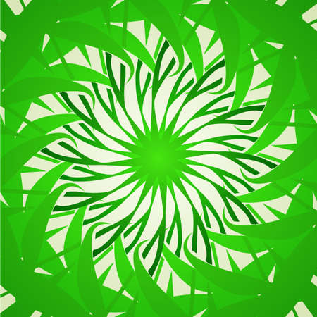 hypnotic:  Organic green kaleidoscope background