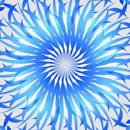 mysticism: Organic blue kaleidoscope background
