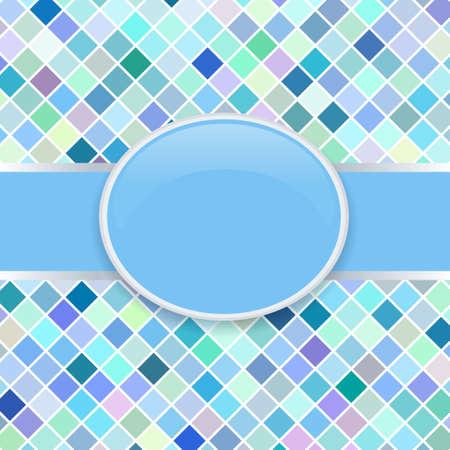 Pop art blue retro cover Stock Vector - 11154491