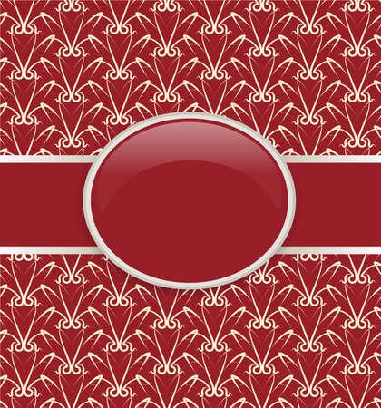 Art retro red ornate cover Vector