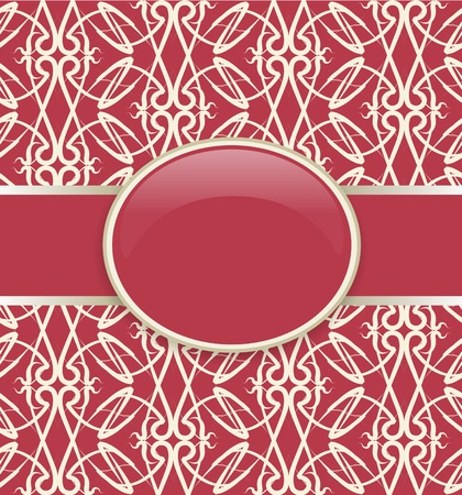 Art vector retro red ornate cover Vector