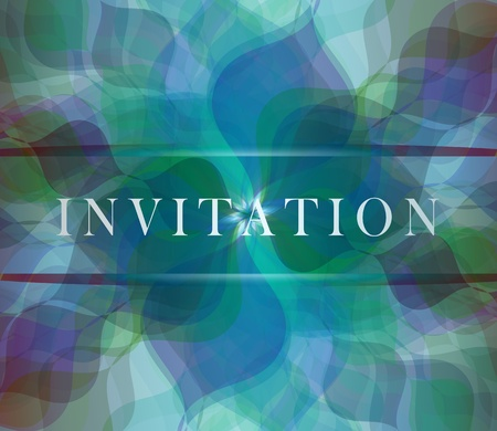 Invitation dark blue card