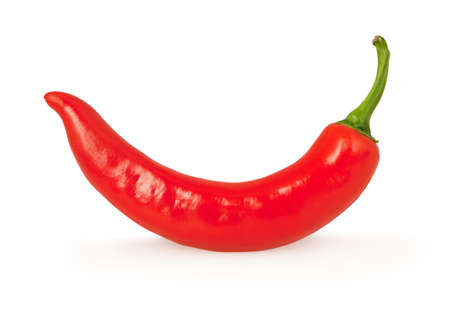 red chili pepper: Red chili pepper isolated on white