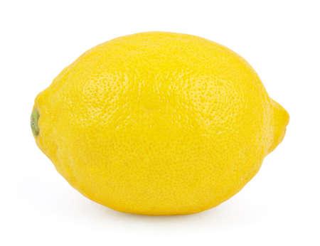 레몬: 레몬 흰색 배경에 고립