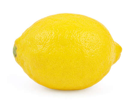 with lemon: Lemon isolated on white background Stock Photo