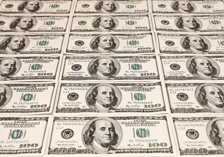 usd: Background with money american hundred dollar bills