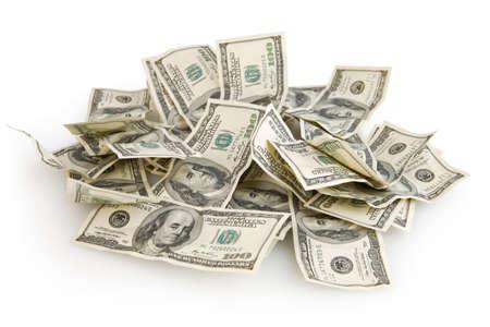 Achtergrond met rekeningen van geld de Amerikaanse honderd dollars