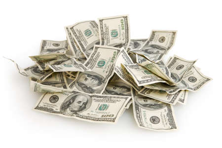 heap up: Background with money american hundred dollar bills