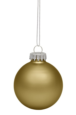 bauble: Christmas bauble isolated on white background