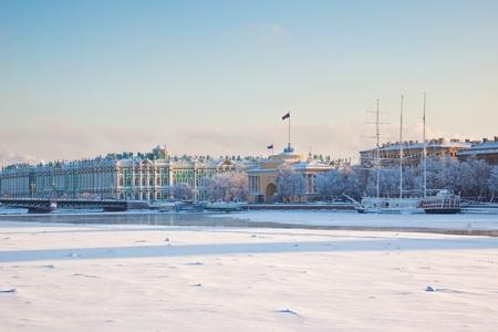 neva: Palace bridge. Neva River. Saint-Petersburg. Russia
