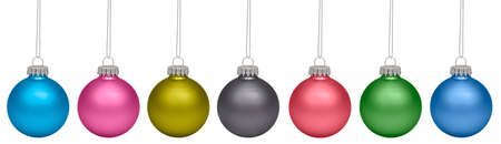 Christmas baubles isolated on white background. RGB and CMYK photo