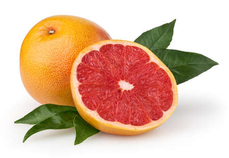 Grapefruit isolated on white background with clipping path photo